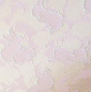 彩兎文緞子 ピンク
