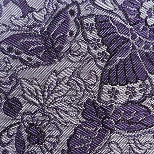 双蝶花文錦 紫