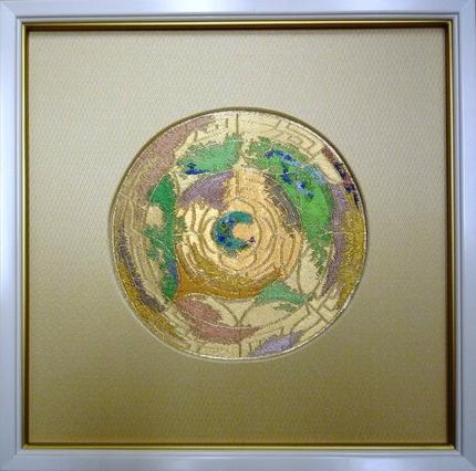 国際交流基金関西国際センター、タペストリー「かわらけ宝鏡文」
