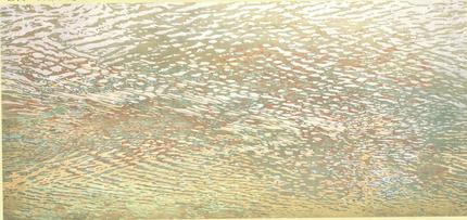 佐賀市文化会館、緞帳「多布施川の光と風」